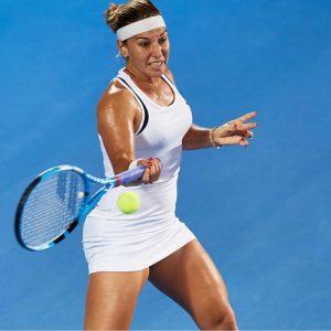 Domi Playing Tennis