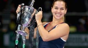 Dominika after Winning WTA Title in Singapore
