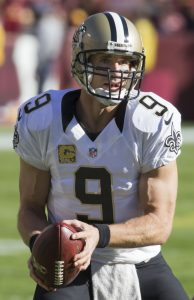 Drew Brees Holding a Football