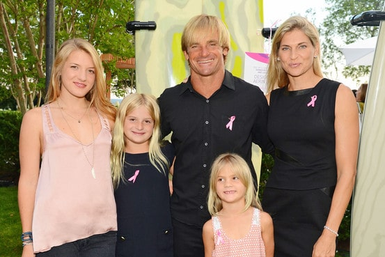 Gabrielle Reece with her family