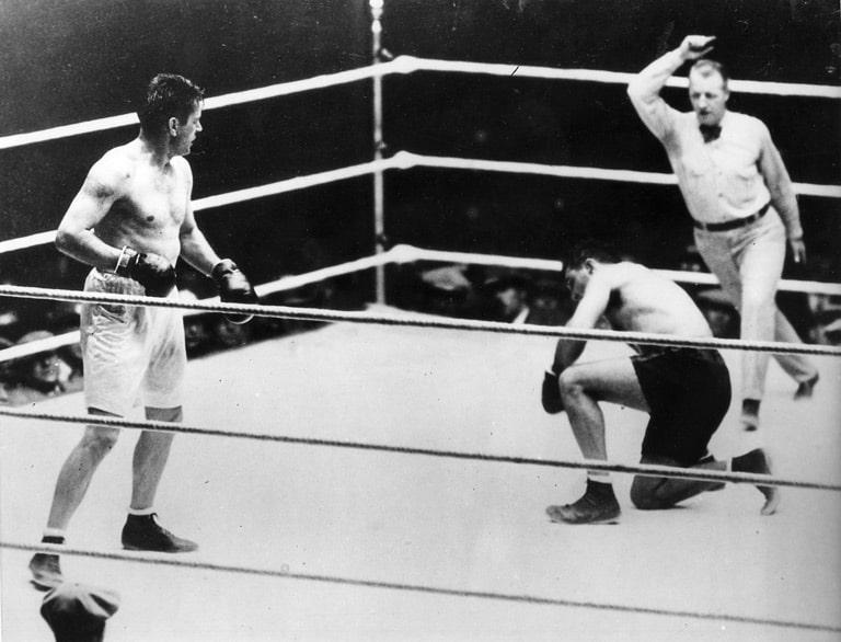 Gene Tunney inside the ring