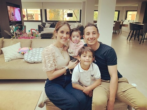 Guardado with his family