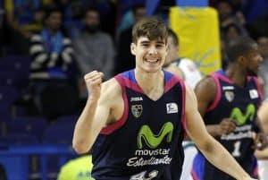 Juan Hernangomez Rejoicing