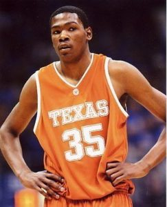 Kevin Durant playing for the Texas Longhorns.