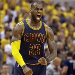 LeBron James for the Cleveland Cavaliers