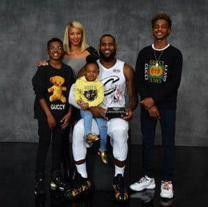 LeBron with Family