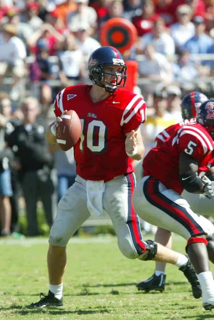 Manning playing for Ole Miss