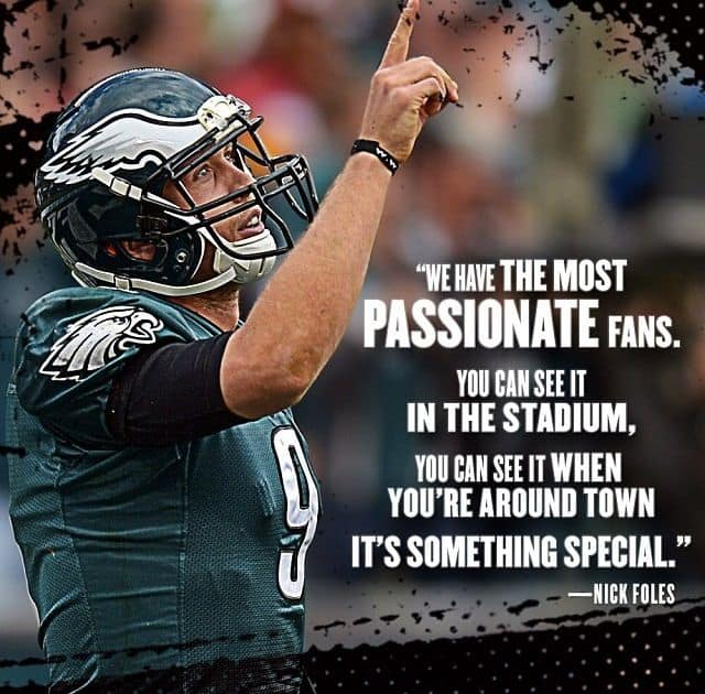 Nick Foles quote on fans