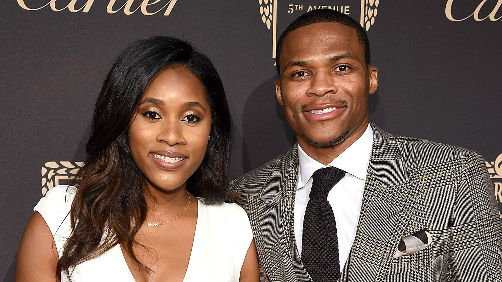 Nina Earl With Her Husband Russell Westbrook