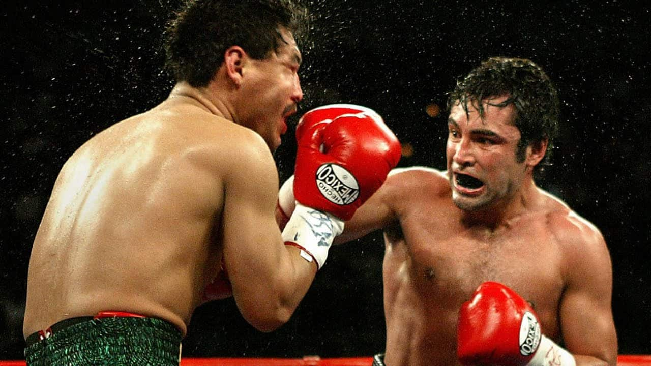 Oscar De La Hoya inside the ring