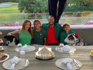 Tiger Woods with his Family