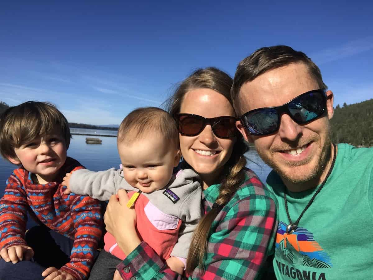 Tommy Caldwell with his family