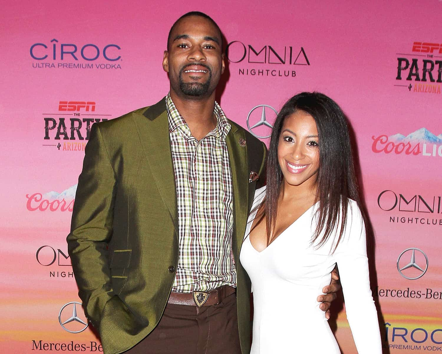 calvin johnson with his beautiful wife