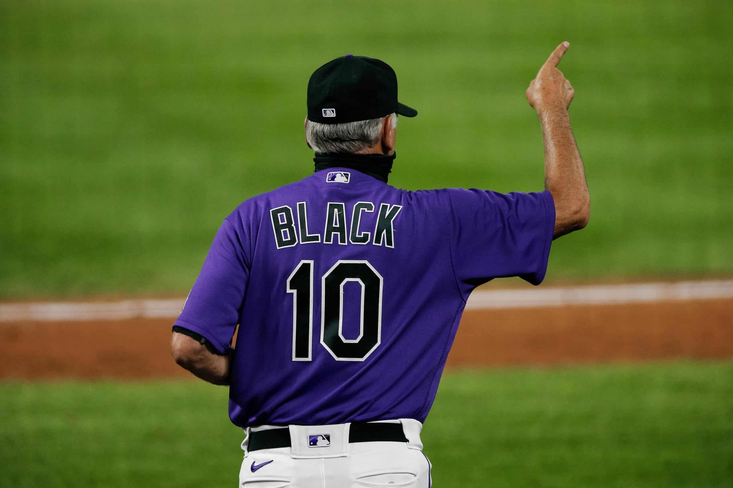 Bud Black and his lucky number 10.