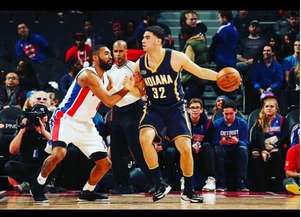 Niang playing for the Indiana Pacers