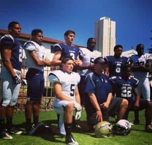 Josh with his high school team