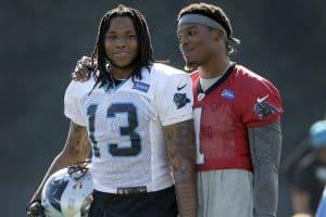 Cam Newton and Kelvin Benjamin