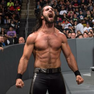 Rollins Happiness after Winning Match