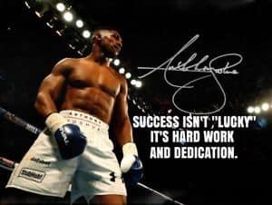 Anthony Joshua quote on success