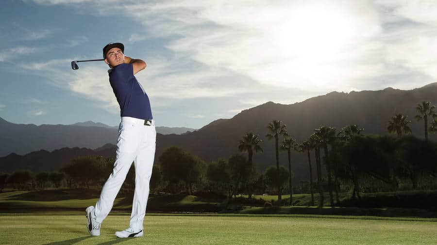Rickie Fowler and the amazing view.
