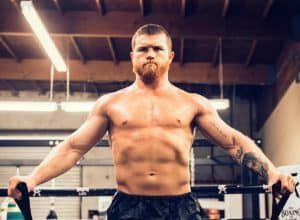 Canelo doing his workout