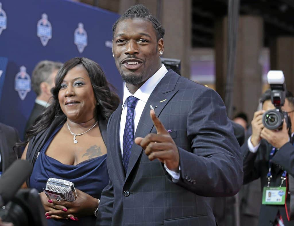 Clowney with his mother, Josenna