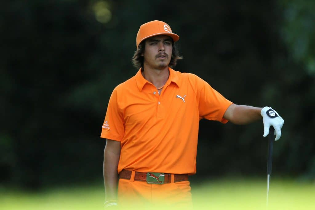 Rickie Fowler in orange.