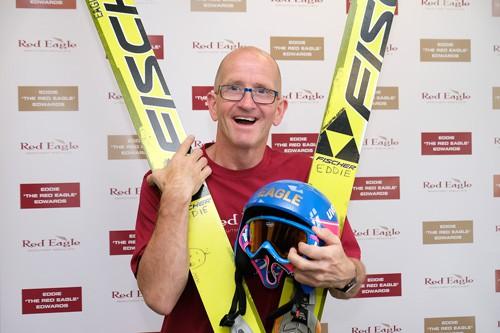 Eddie, the Eagle, an English ski-jumper