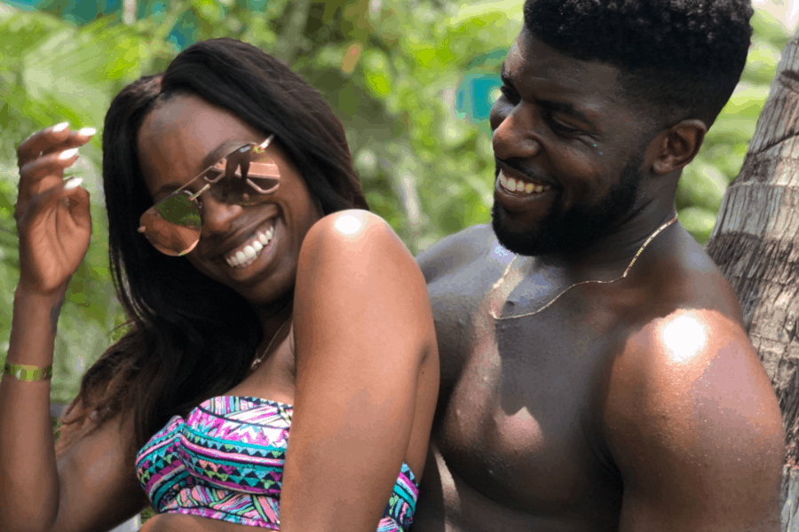 Emmanuel Acho With Ex-Girlfriend Yvonne Orji