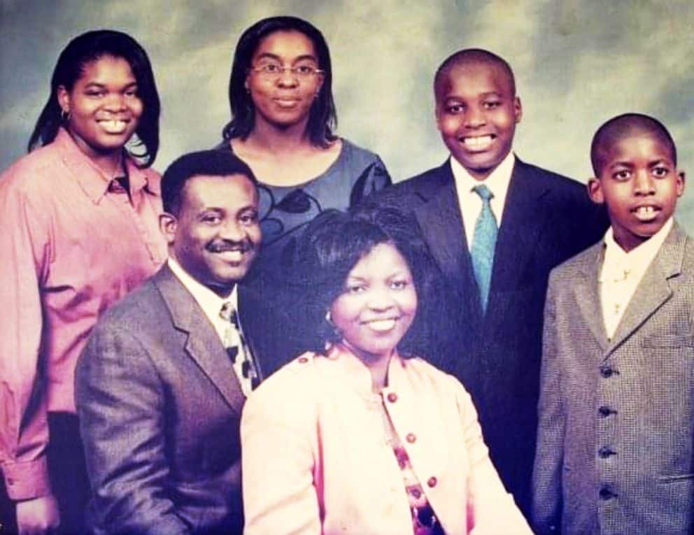 Sports Analyst Emmanuel Acho With His Parents And Siblings