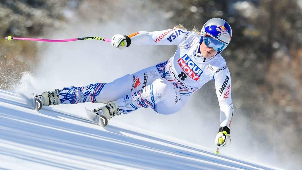 Lindsey Vonn during the race