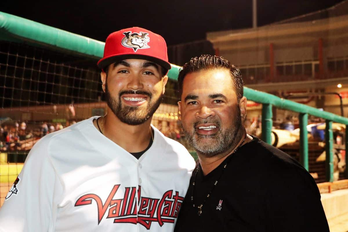 Ozzie Guillen With His Son