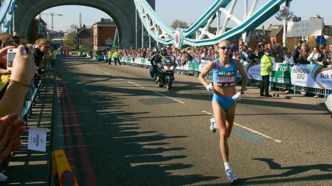 Paula Radcliffe on field
