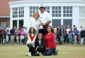 Phil Mickelson with his family