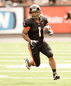 Jacquizz playing at Oregon State University