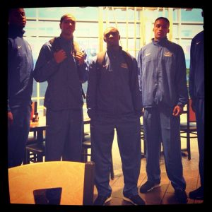 Shaquille at Tulsa University with friends