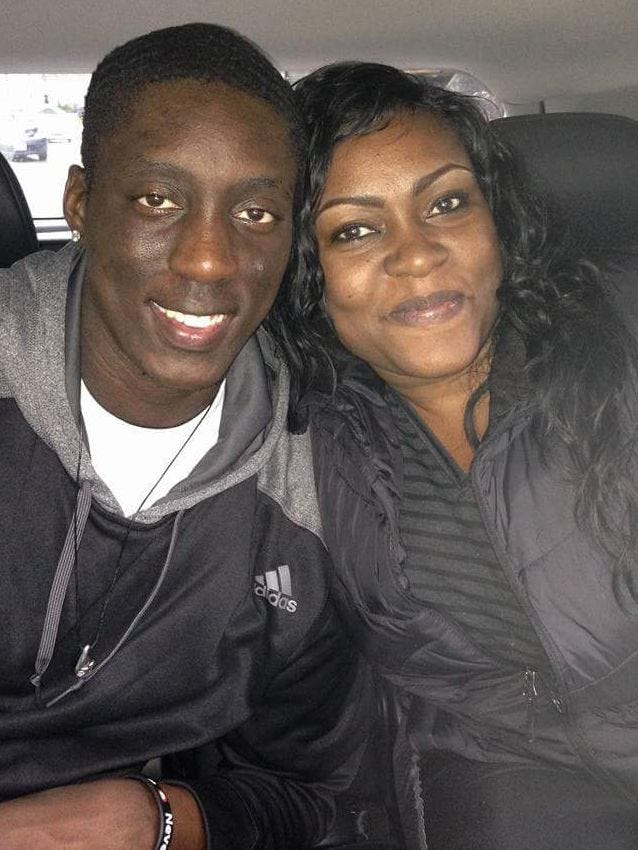 Tony Snell with his mother