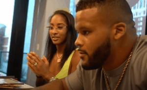 Aaron Donald With His Fiance Erica Sherman