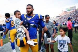 Aaron Donald With His Kids