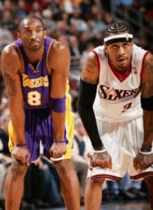 Allen Inverson and Kobe Bryant