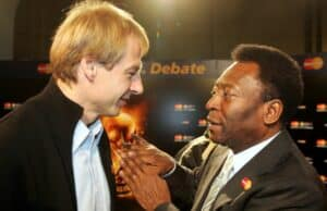 Jürgen Klinsmann with the Legendary Pele