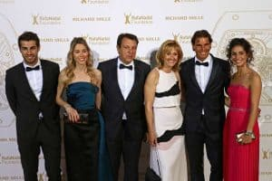 Rafa with his family at an event