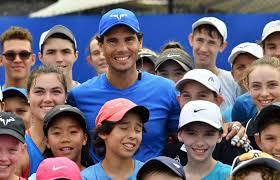 Rafael Nadal with kids