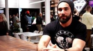 Seth Rollins in his Coffee Shop