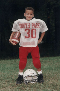 Steph Curry when he was baby