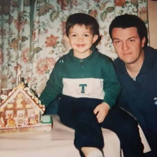 Poirier with his father during his early days