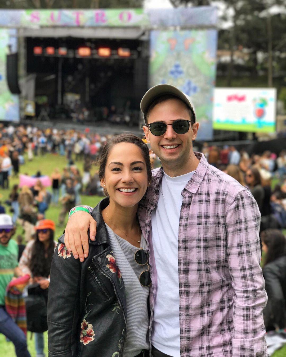 Maggie with her fiance Zach