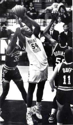 Popeye playing for Murray State University