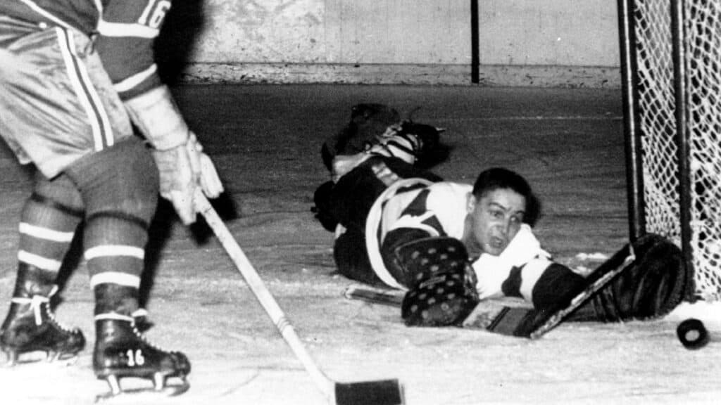 Sawchuk during the match