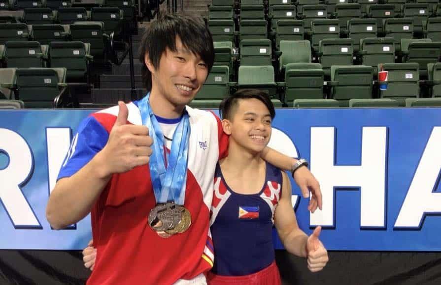 Carlos Yulo and Munehiro Kugimiya